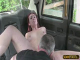 Kinky Euro redhead chick agrees to have sex for a lot of cash