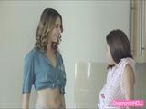 Babe Ani Blackfox and Antonia Sainz loves to share a big dick