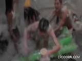 College students having a foam sex party