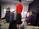 Hot tattooed stewardess Kleio screwed up