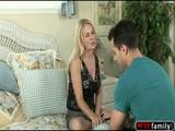 Angela Attison taste her stepson cock
