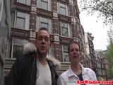Dutch hooker jerks and fucks in holland