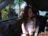 Sexy teen Kassondra Raine fuck in public
