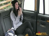 Black Haired teen banged in the taxi