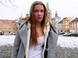 Czech Teen Flashes Her Tits In Public And Agrees To Get Laid For Cash