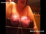 Screwdriver Pierced In Ligated Boobs - Ligated Videos