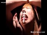 Chop Sticks Facial Torture - Needle torture Videos