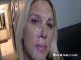 Big Facial For Wife - Blonde Videos