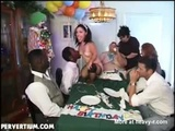 Bizarre Birthday With A Midget - Midget Videos