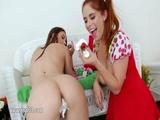 Whipped cream in her bottom 48