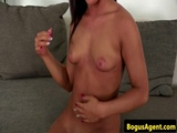 Casting amateur fingered by horny fake agent
