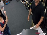 Hot Cuban chick screwed at the pawnshop