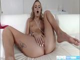 Skinny Emma wets herself and fucks dude 2