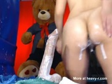 Fun With A Squirting Dildo - Creampie Videos