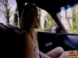 Curvy babe Sweet Cat tight pussy fucked in the car