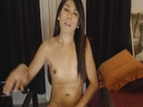 Hot Tranny Plays With Her Own Cock