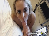 Deep Throat and Face Fuck for Horny Blonde