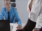 Sexy secretary Sheri Vi fucks her boss