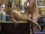Perky tits babe pounded by pawn keeper