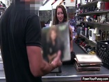 Beautiful slut fuck in the pawn shop
