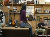 A heated amateur sex in the pawnshop