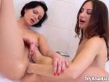Nikita and Lana Ray - anal fisting in the bathroom