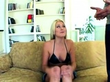 Blonde With Pierced Tongue Sucks Two Big Dongs And Gets