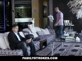 FamilyStrokes - Angry Stepbro Gets Blow Job By Hot Stepsis