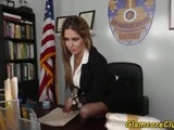 Bigtit police hottie fucked in the office
