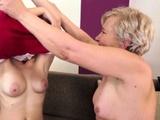 Fingered Lesbian Granny Pussylicking Teen