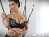 CrushOnPeta E08 - Peta Jensen In A Lingerie Strip And Toy Session