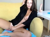 Perfectly Brunette Rubs Herself