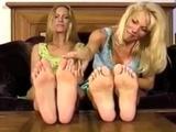 Two cute girls soles