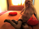 Dirty Blonde Bares And Toys Her Small Grunt