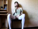 Hot Secretary In White Stockings Masturbates Passionately