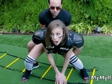 Ending Gridiron In Big Tit Milfs Pussy
