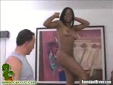 Brown babe Vani showing off and getting a good cum shower