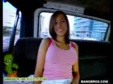 Random chick fucked hard in the bang bus